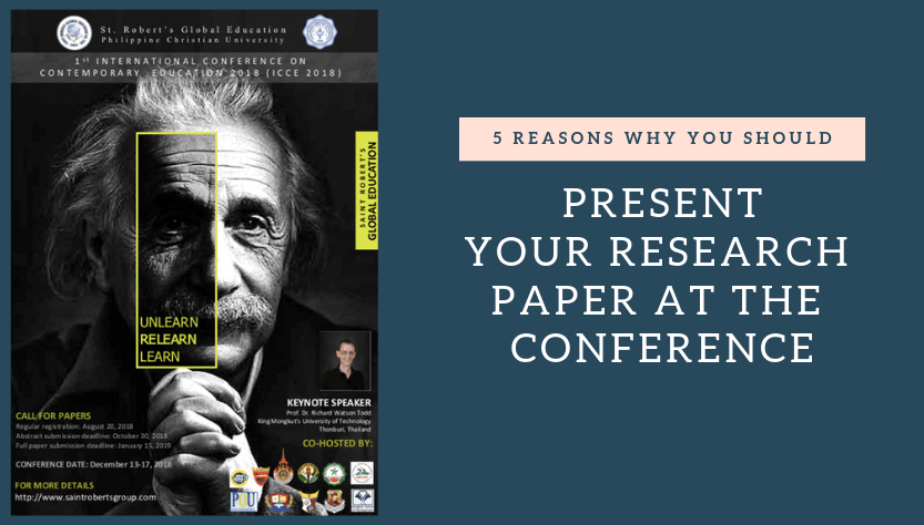 Present research paper conference